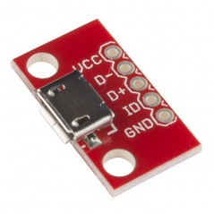 Breakout Board for USB microB (Sparkfun BOB-12035)