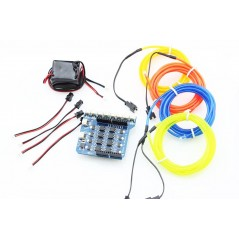 8-Channel EL Shield Kit (ER-DEL0008KIT) control EL wires via Arduino