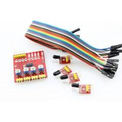 4 Channels IR Reflective Sensor (ER-SPS40201S) 4-way Infrared Tracking Sensor