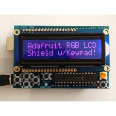 RGB LCD Shield Kit w/ 16x2 Character Display - Only 2 pins used! (Adafruit 714)