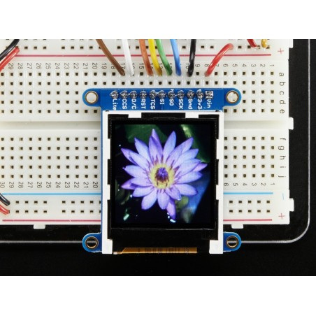 """128x128 1.44"""" Color TFT LCD Display with MicroSD Card breakout (Adafruit 2088)"""