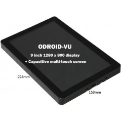 ODROID-VU (Hardkernel) 9-inch universal HDMI  with 10-points capacitive multi touch
