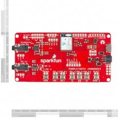 Purpletooth Jamboree - BC127 Development Board (Sparkfun WRL-11924) A2DP HFP AVRCP Bluetooth