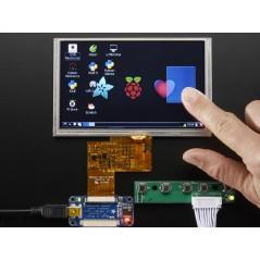 "HDMI 4 Pi: 5"" Display (w/Touch) 800x480 - HDMI/VGA/NTSC/PAL (Adafruit 2110)"