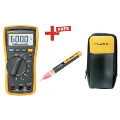 FLUKE 115 + 1AC-II VoltAlert voltage detector + C90 soft case