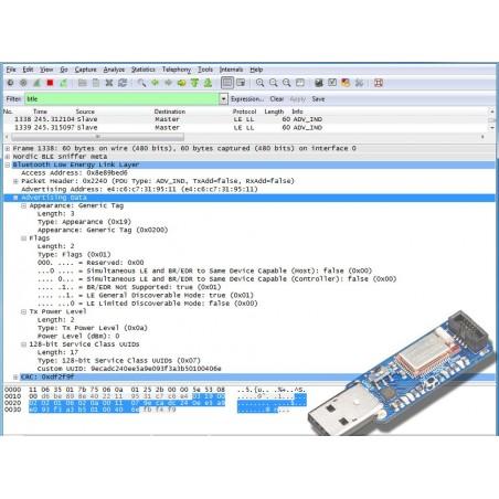 Bluefruit LE Sniffer - Bluetooth Low Energy (BLE 4.0) - nRF51822 - v1.0 (Adafruit 2269)