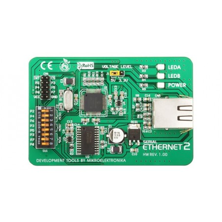 Serial Ethernet 2 Board (MIKROELEKTRONIKA)