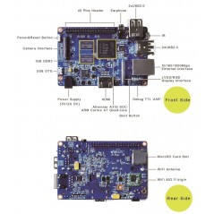 Banana Pi Quad Core  BPI-M2 (1GHz ARM7 A13S, 1GB DDR3 ,WiFi)