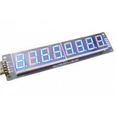 8-Digit SPI 7Segment LED Display - Blue (ER-CDE08071B)