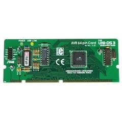 UNI-DS3 64 pin AVR card option (MIKROELEKTRONIKA)