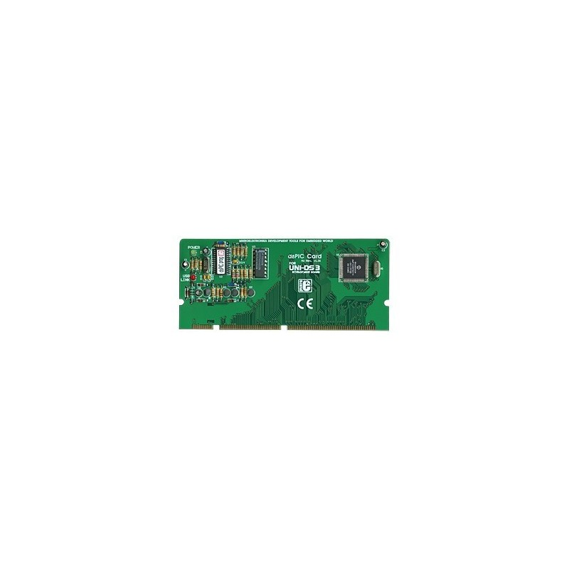 UNI-DS3 80 pin dsPIC card option (MIKROELEKTRONIKA)
