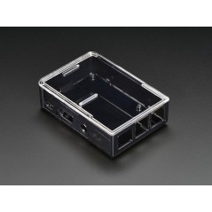 Adafruit Raspberry Pi B+ / Pi 2 Case - Smoke Base w/ Clear Top (Adafruit 2258)