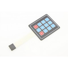 Membrane 3x4 Button Pad with Sticker 69,2x76,9mm (ER-CBS34121B)