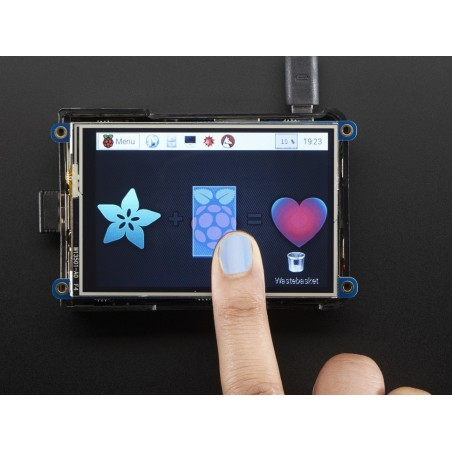 "PiTFT Plus 480x320 3.5"" TFT+Touchscreen for Raspberry Pi - Pi 2 and Model A+ / B+ (Adafruit 2441)"
