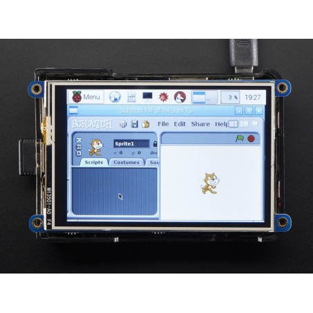 """PiTFT Plus 480x320 3.5"""" TFT+Touchscreen for Raspberry Pi - Pi 2 and Model A+ / B+ (Adafruit 2441)"""