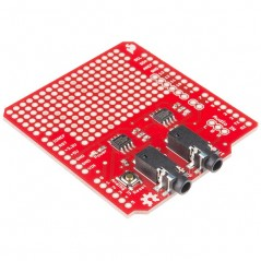 Spectrum Shield for Arduino (Sparkfun DEV-13116) stereo audio input into 7-bands per channel