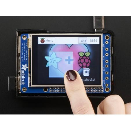 "PiTFT Plus 320x240 2.8"" TFT + Resistive Touchscreen - Pi 2 and Model A+ / B+ (Adafruit 2298)"