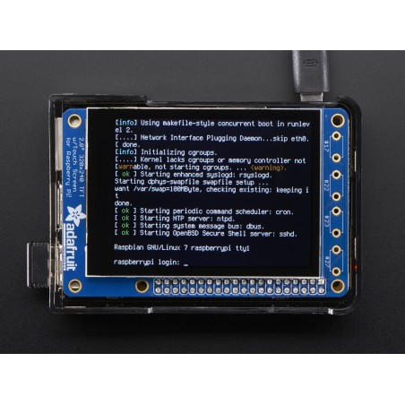 "PiTFT Plus 320x240 2.8"" TFT + Capacitive Touchscreen Mini Kit - Pi 2 and Model A+ / B+ (Adafruit 2423)"