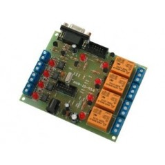 AVR-IO-M16 (Olimex) DEVELOPMENT BOARD WITH ATMEGA16 4 RELAYS OUTPUTS 4 OPTOISOLATED INPUTS