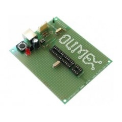 PIC-P28-USB (Olimex) ICSP/ICD ENABLED 28 PIN PIC MICROCONTROLLER PROTOTYPE BOARD WITH USB