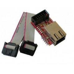 MOD-ENC28J60 (Olimex) DEVELOPMENT BOARD WITH UEXT CONNECTOR AND 10 MBIT ENC28J60 ETHERNET CONTROLLER