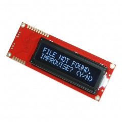 Serial Enabled 16x2 LCD - White on Black 5V (Sparkfun LCD-09395)