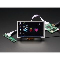 "HDMI 4 Pi: 5"" Display w/Touch and Mini Driver - 800x480 HDMI (Adafruit 2109)"
