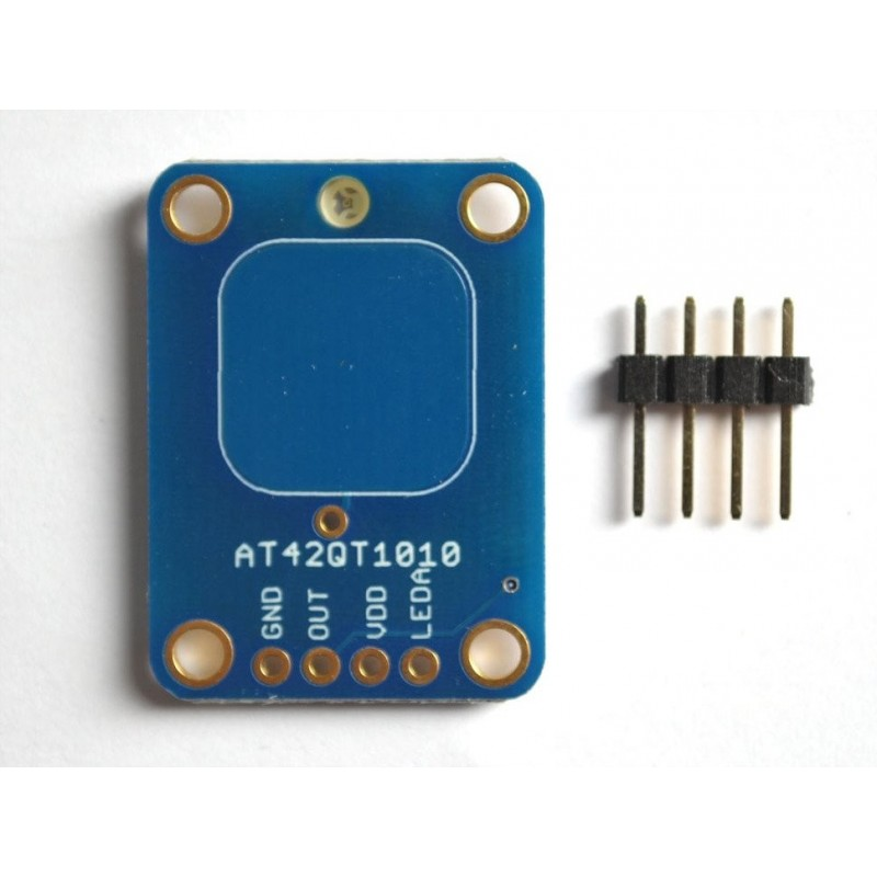 Standalone Momentary Capacitive Touch Sensor Breakout  AT42QT1010 (Adafruit 1374)