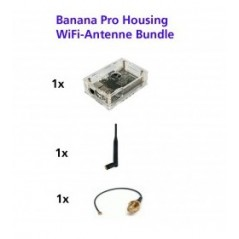 Banana Pro Board - Housing/Box WiFi Antennen Bundle / Set