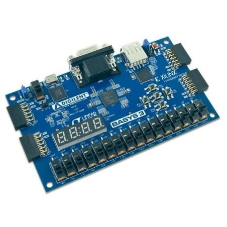 410-183P-KIT (Digilent) Programmable Logic IC Development Tools Basys3 Artix-7 FPGA Board