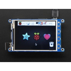"PiTFT Plus 320x240 3.2"" TFT + Resistive Touchscreen - Pi 2 and Model A+ / B+ (Adafruit 2616)"
