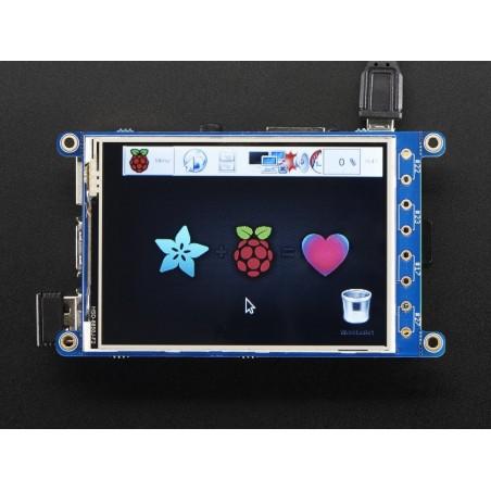 "PiTFT Plus 320x240 3.2"" TFT + Resistive Touchscreen - Pi 2 and Model A+ / B+ (Adafruit 2616)"