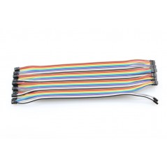2.0mm DUAL-FEMALE DUAL-ROW JUMPER WIRE 200mm /20x PACK/ (ER-PCW00020D)