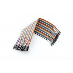 2.0mm to 2.54mm DUAL-FEMALE JUMPER WIRE 200mm /40x PACK/ (ER-PCW00101D)