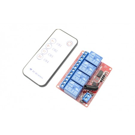 4 Channels RF wireless Remote Relay Control Module DC 5V (ER-CRF00504C)