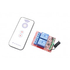 2 Channels Relay RF wireless Remote Control Module DC 5V (ER-CRF00502C)