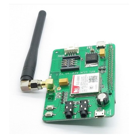 Raspberry Pi2 2x20pin SIM800 GSM/GPRS Add-on V2.0 (Itead IM150720001)