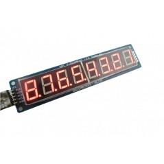8 Digit SPI Seven Segment LED Display - Red (ER-CDE08071R)