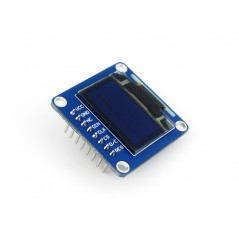0.96inch OLED (B) (Waveshare)  128x64, 3/4-wire SPI, I2C, SSD1306, 3.3/5V, yellow-blue