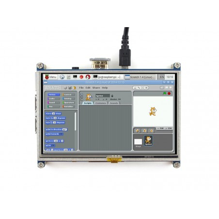 5inch HDMI LCD (Waveshare) 800×480 Resistive Touch Screen LCD, HDMI, Designed for Raspberry Pi