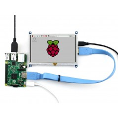 5inch HDMI LCD (B) (Waveshare) 800×480 Resistive Touch Screen LCD, HDMI, supports various systems