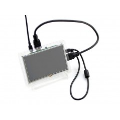 5inch HDMI LCD (B) (with clear case) (Waveshare) 800×480, Resistive touch
