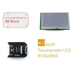BB Black Acce C (Waveshare) LCD Accessories Package for BeagleBone Black