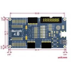 BLE400 (Waveshare) BLE4.0 Bluetooth 2.4G Mother Board