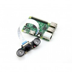 RPi Camera (H), Fisheye Lens, Supports Night Vision (Waveshare)