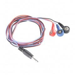 Sensor Cable - Electrode Pads 3 connector (Sparkfun CAB-12970)