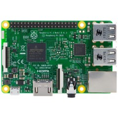Raspberry Pi 3 Model B (Quad Core 1.2GHz Broadcom BCM2837 64bit CPU,1GB RAM,BCM43143 WiFi,Bluetooth BLE)