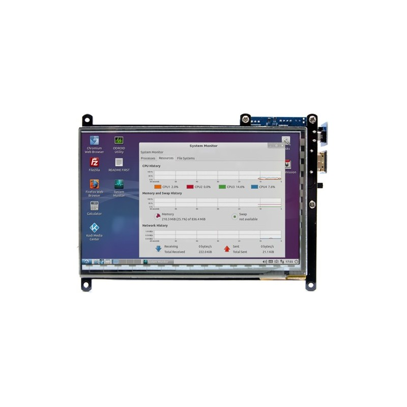 ODROID-VU7 Plus (Hardkernel) 7inch 1024 x 600 HDMI display with Multi-touch