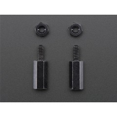 Brass M2.5 Standoffs for Pi HATs - Black Plated - Pack of 2 (Adafruit 2336)