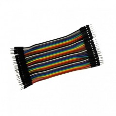 40 pin Dual Male Splittable Jumper Wire- 100mm (ER-PCW40020W)